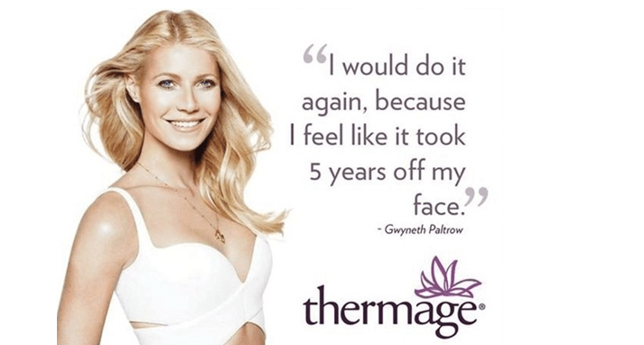Thermage CPT Gwyneth Paltrow DermaCenter